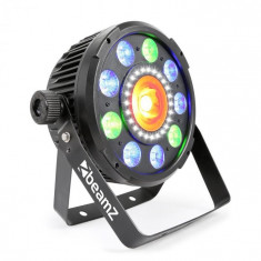 Beamz BX96 PAR 9X9W 6ÎN1, LED-URI RGBW, STROBOSCOP CU 24 LLED-URI SMD, TELECOMANDĂ