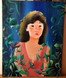 Tablou - pictura ulei pe panza intinsa pe sasiu - semnata - portret