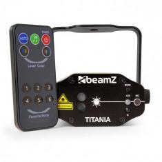 Beamz TITANIA DOUBLE LASER, 200MW RG GOBO, clasa laser 3B, telecomandă IR
