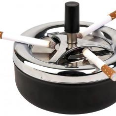 Scrumiera metalica, cu sistem de curatare