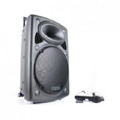 Boxa portabila Ibiza 800W, BT, SD, USB, FM, 2 microfoane UHF