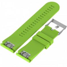 Curea ceas Smartwatch Garmin Fenix 5, 22 mm Silicon iUni Light Green