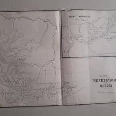 Hartă veche Munții Retezatului și Ruscăi și Munții Abrudului