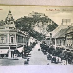 Deva 1926 - Strada Regina Maria, Hotel Orient, magazin Hirsch, cetatea, Circulata, Printata