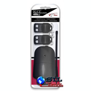 Kit exterior pentru porti batante senzor si 2 telecomenzi 2 butoane Made ForYou