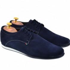 Pantofi barbatesti din piele naturala bleumarin - Made in Romania TENALBATSRU