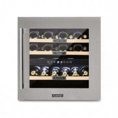Klarstein Vinsider 36, frigider pentru vin, 2 zone de răcire, 5-22°C, 94L, oțel inoxidabil