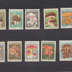 ROMANIA 1958  LP 457   CIUPERCI  SERIE MNH