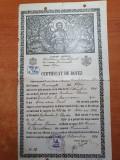 Certificat de botez din 26 octombrie 1939 -bucuresti