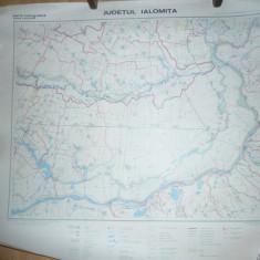 Harta Hidrografica a Judetului Ialomita scara 1: 200 000 Institut Geodezie