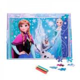 Cumpara ieftin Puzzle Frozen 160 piese + bonus, 12-24 luni, Carton, 2D (plan)