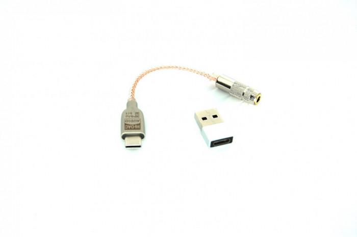 Adaptor audio USB Type-C la jack 3.5mm, HIFI, DAC, ALC5686, Android, win.10