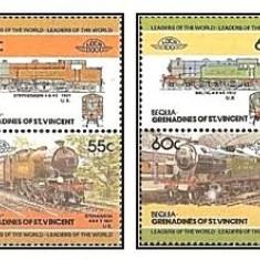 Bequia Grenadines of St Vincent 1985 - locomotive 1, serie neuza