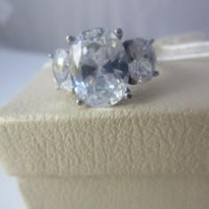 Inel Luxury inox placat aur 18K cristale zirconiu