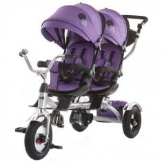 Tricicleta Gemeni Tandem Purple, Chipolino