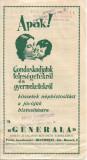 A1071 Brosura reclama Generala Asigurari Brasov interbelica limba maghiara