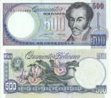 1990 (31 V), 500 Bolívares (P-67d) - Venezuela - stare UNC