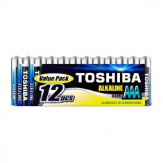 Baterii Toshiba Alkaline AAA , LR03 1.5V 12 Baterii / Set