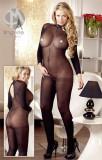 Catsuit Decupat Sexy, Negru, Marime Universala