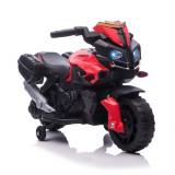 HOMCOM Motocicleta electrica cu faruri si claxon, 3 km/h, pentru copii 18-48 luni, Rosu