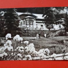 CARTE POSTALA TUSNAD PAVILIONUL BAILOR × RPR 1966 timbru deslipit, Circulata, Printata