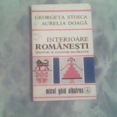 Interioare romanesti-tesaturi si cusaturi decorative-G.Stoica,A.Doaga