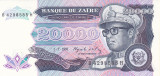 Bancnota Zair 20.000 Zaires 1991 - P39 UNC
