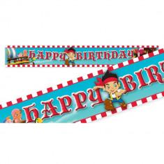 Banner folie Jake si Piratii din Neverland - 4.65m, Amscan 996461