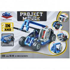 Cuburi constructii 2:1, vehicule, 115 piese