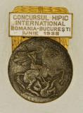 Insigna Concursului Hipic international - Bucuresti, 1938, 50x35mm
