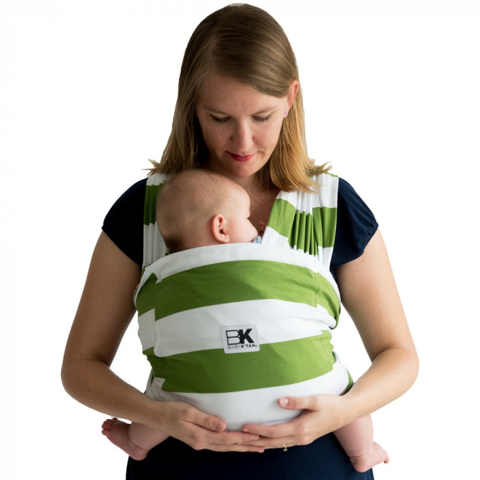 Sistem Purtare Baby K'tan Baby Carrier Print - Olive Stripe - Marimea XS