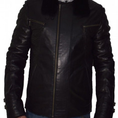 Haina barbati, din piele naturala, marca Kurban, 460-1, negru , marime: M