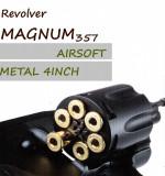 Revolver MAGNUM357 Colt airsoft CO2 Metal 6 cartuse calibru 6mm, KWC