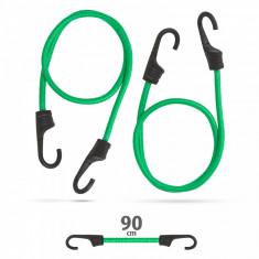 Set de cordeline de fixare chingi cauciuc profesionale Verde 90 cm x 8 mm 2 buc. pachet