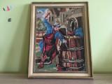 Goblen pinter (dogar - butoier, fabrică de bere, vin?) - foarte vechi