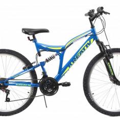 Bicicleta Mtb Kreativ 2643 Albastru M 26 inch, Discuri