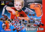 Joc constructii cu bormasina, pe baterii, 280 PIESE
