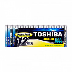 Set 12 baterii alcaline Toshiba R3 AAA