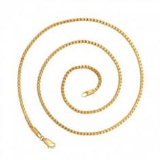 Lant Anebris unisex, dublu placat Aur 24K,lungime 50cm
