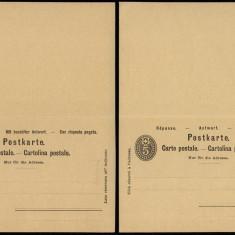 Switzerland - Postal History Rare Old Postal stationery + Reply UNUSED DB.177