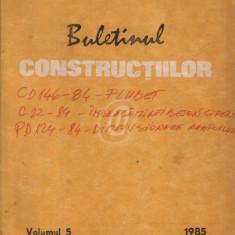 Buletinul constructiilor, vol. 5 (1985)