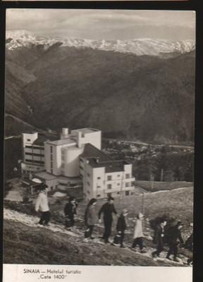 """CPI B12981 CARTE POSTALA - SINAIA. HOTELUL TURISTIC """"COTA 1400"""", R.P.R. foto"""