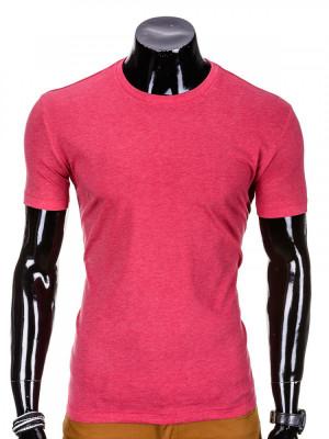 Tricou pentru barbati, corai simplu, slim fit, mulat pe corp, bumbac - S620 foto