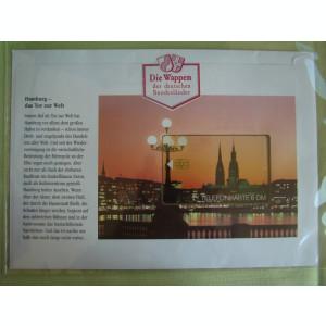 Cartela Telefonica + FDC Germania Hamburg - Exponat Numerotat