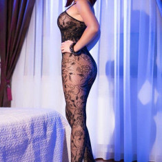Catsuit S/L Black superstretch Bodystocking