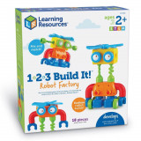 Hai sa construim - 1, 2, 3 Robotel colorat, Learning Resources