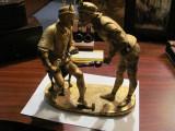 PVM - Ansamblu statuar vechi din antimoniu bronzuit / cu lipsa si defecte, Statuete