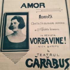 Scrisoare de amor.Romanta Violeta Ionescu la Teatrul Carabus