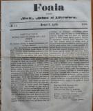 Ziarul Foaia pentru minte , inima si literatura , nr. 13 , 1862 , Samuel Klein