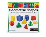 Corpuri geometrice din plastic - 10 piese, Learning Resources